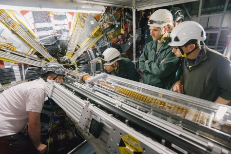Installation of the Insertable B-Layer into the ATLAS detector. Photo credit Heinz Pernegger.