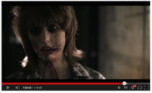 Screenshots of me in our feature-length independent zombie movie filmed at CERN in 2012.