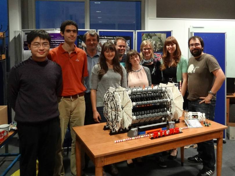 The team who rebuilt the ATLAS LEGO model at the University of Manchester.