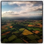 UK on Sunday evening. One of my favourite pictures of the UK from above. Taken July 2014.