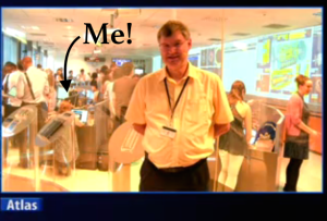 Me on the CERN webcast.
